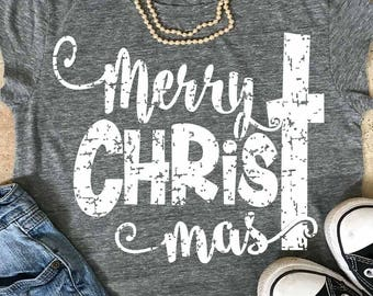 Merry ChrisTmas svg, Christmas svg, grunge, distressed, Christmas quote svg, jesus svg, SVG, DXF, EPS, commercial use, rustic svg, antique