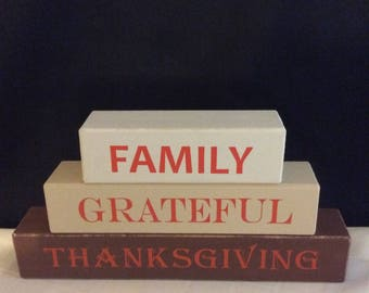 Thanksgiving decorations, Thanksgiving, family, grateful, handmade decorations