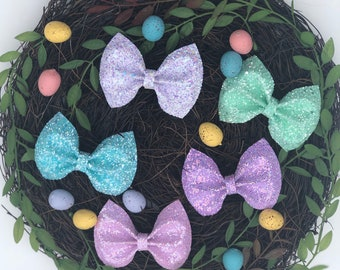 "3"" glitter bows"
