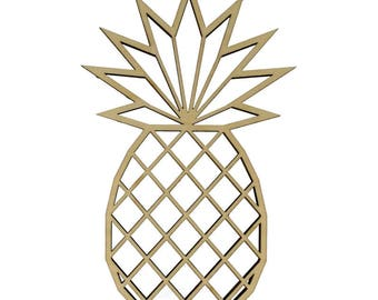 Template pineapple blank - blank wood holder - wooden wall Deco wooden - Silhouette pineapple Origami