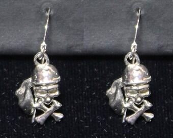 Sterling Silver Pirate Earrings