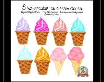 Ice Cream Clipart, Ice Cream Cone Clipart, Ice Cream Clip Art, Ice Cream Cone Clip Art, Clipart, Clip Art, Clip Art Commercial Use, Digital