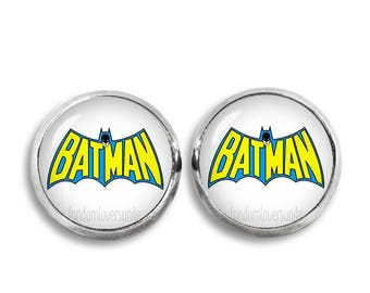 Batman Earrings Fandom Jewelry Batman Stud Earrings Fandom Jewelry Cosplay Fangirl Fanboy