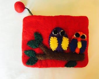 Owl zipper coin purse. Gift accessories .