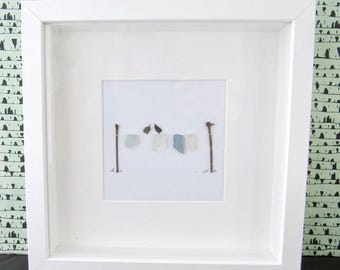 Celebration, birthday present, wall art, wall hanging, pebble art picture, pebble art, gift for him, gift for her, christmas gift, sea glass