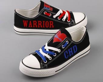 CHD Warrior Custom Shoes Congenital Heart Defect Womens Shoes 1 in 100