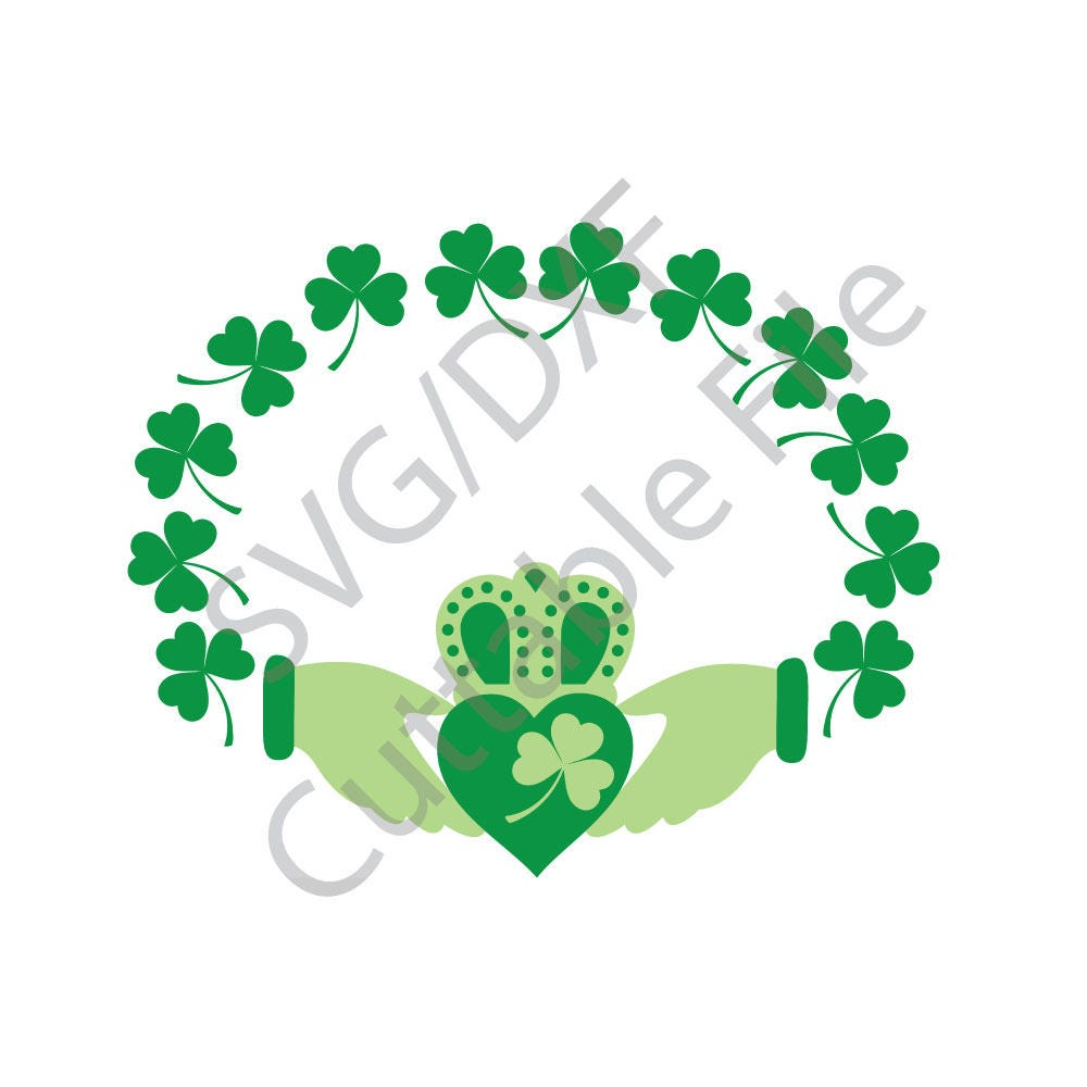 Irish svg claddagh svg dxf file htv vinyl cutting file from this is a digital file buycottarizona Choice Image