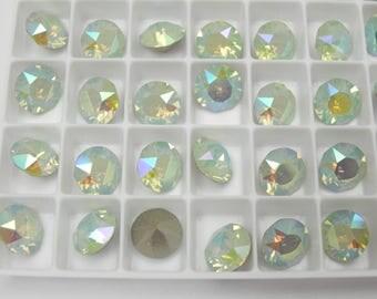 Swarovski 1088 Chrysolite Opal Illumine 39ss Chaton Rhinestones