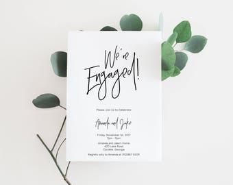 Engagement Invitations, Printable Engagement Invitations, Engagement Party Invitations, Engagement Party Invites, Engagement Party