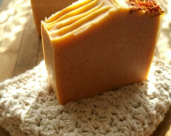 Natural Handmade / handcrafted artisan Orange Blossom Soap. Savon. Jabon.