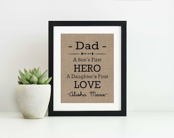 Fathers Day Gift Ideas From Kids- Christmas Presents for Dad- Gift for Father- To Dad From Baby- Daddys Little Girl- Daddy Daughter Gift