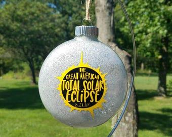 Solar Eclipse Ornament - Great American Solar Eclipse - Christmas Ornament - Personalized Christmas Ornament - Custom Christmas Ornament