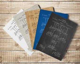 Brewing Printable, Brewing Beer Poster, Craft Beer Decor, Beer Sign, Beer Patent Print, Beer Making Decor, Beer Making Art, INSTANT DOWNLOAD