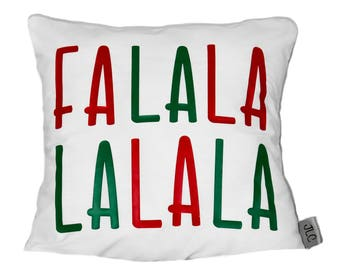 Falalalala cushion cover