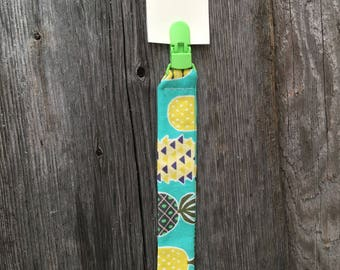 Yellow green turquoise pineapple pacifier