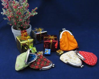 Two options now available, change purse, little tiny purse, Zakka spare change purse, jewelry bag, mini bag, itty bitty bag