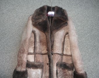UNUSED Sheepskin Shearling Coat Size 46