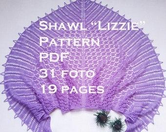Triangle shawl Pattern knitting Pattern Knit shawl pattern Shawl pattern  Patterns for women