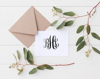Personalized Stationery | Classic Monogram | Gift for Her | Monogram Note Cards | Farmhouse Style | Gift for Girl | Gift for Bride |