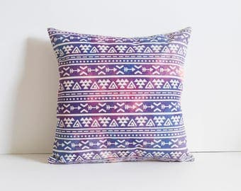 Boho Pillow Cover, Bohemia Pattern Pillow Covers, Aztec Pillow Covers, Purple Throw Pillows, Boho Cushion Cover,Decorative Pillow Covers
