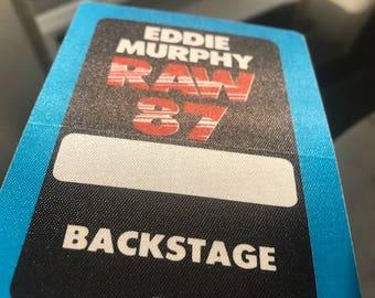 Eddie Murphy - Rare Backstage Pass - RAW