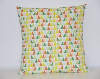 Cushion - 40 X 40 cm - fabric pattern * triangle *-multicolored