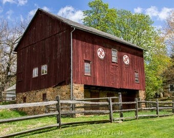 Red Barn, barn, Pennsylvania, rustic, country, farm, farming, photograph, picture, wall hanging, home decor, wall decor