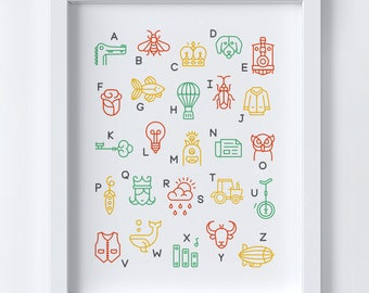 Everything from A to Z | Educational Art Print