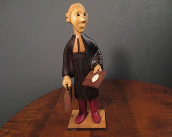 Romer Italy - carved wood lawyer figurine*
