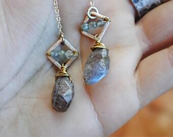 Labradorite daze earrings