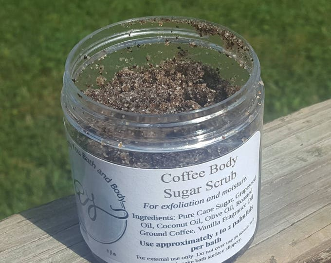 Coffee Body Scrub Scrub 8 oz | Exfoliating | Hydrating Shower Scrub | Body Polish