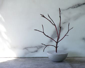 Concrete Tree Paperweight - Made with Natural Dogwood Twigs - for Weddings, Centerpieces, Mantles, Shelves, Desk or Place Card Holders
