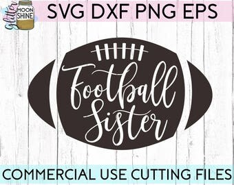 Football Sister svg eps dxf png Files for Cutting Machines Cameo Cricut, Football Sis svg, Girly svg, Football Team svg, Cute Football svg