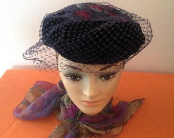 On Sale Ladies Vintage Hat with Feathers