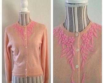 Anniversary Sale Vintage Pink Jaeger Cashmere Sweater