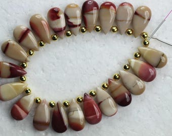 Awesome Agate , 20 piece smooth pear mookite agate Double Shaded Size , 5 x 9 x 18 , mm Approx