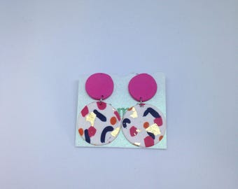Confetti dangle studs