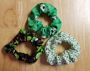 St. Patrick's Day Hair Scrunchie