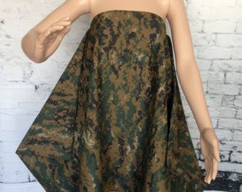 Bat Wings Flare Camouflage Dress / Camouflage Dress / Oversize Camouflage Dress
