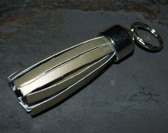 Keychain faux leather straps