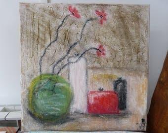 """DECO flowers"" pastel painting"