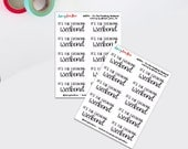 Weekend Stickers   Adult Language Stickers   Hand lettered Stickers   Bujo Stickers   Bullet Journal (dd394)