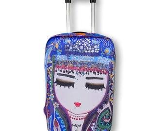 BiggDesign Mavi Su Luggage Cover