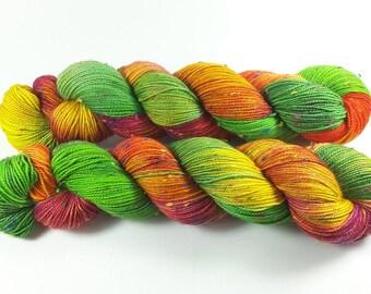 Frohsinnwiese - Donegal Tweed Rainbow Neps, handgefärbt