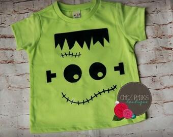 boys halloween shirt , Kids Frankenstein Shirt, Toddler Halloween Outfit, Halloween shirt , baby boy Halloween shirt