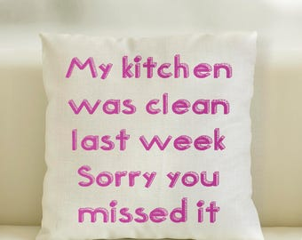 Linen Style Cushion Cover My Kitchen was clean last week sorry you missed it scatter cushion, furnishings.85