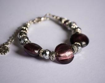 Bespoke made, purple bracelet, unusual gift