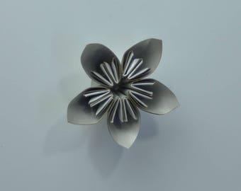 DIY flower kit  cardstock  flower kit  5 mini flower silver