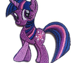 Patch / patch - My Little Pony magic pony - purple - 6.7 x 6.8 cm - patch application applications to the iron application patches patch