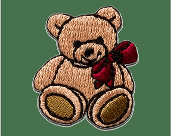 Patch/Ironing-teddy bear loop-brown-2.8 x 2.5 cm-by catch-the-Patch ® patch appliqué applications for ironing application patches patch